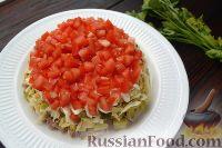 Фото приготовления рецепта: Слоеный салат с говядиной и овощами - шаг №8