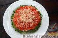 Фото приготовления рецепта: Слоеный салат с говядиной и овощами - шаг №9