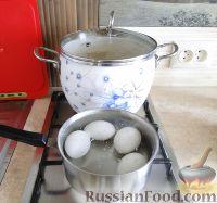 Фото приготовления рецепта: Салат с сердцем и зеленым горошком - шаг №3
