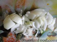 Фото приготовления рецепта: Салат с сердцем и зеленым горошком - шаг №5