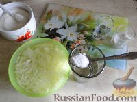 Фото приготовления рецепта: Салат с сердцем и зеленым горошком - шаг №6