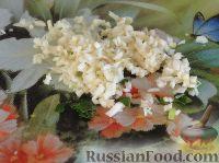 Фото приготовления рецепта: Салат с сердцем и зеленым горошком - шаг №14