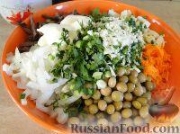Фото приготовления рецепта: Салат с сердцем и зеленым горошком - шаг №15