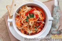 Фото к рецепту: Салат из редьки, моркови и перца
