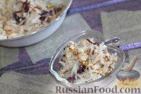 Фото к рецепту: Салат из редьки, с курицей и орехами