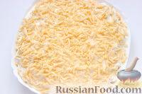 Фото приготовления рецепта: Слоеный салат «Крабы в шубе», с рисом и сухариками - шаг №10