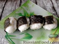 """Фото к рецепту: Рисовые """"колобки"""" (онигири, омусуби)"""