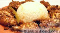 Фото к рецепту: Курица в пикантном кисло-сладком соусе