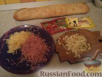 """Фото приготовления рецепта: Горячие бутерброды """"Лодочки"""" - шаг №1"""