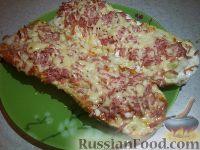 """Фото приготовления рецепта: Горячие бутерброды """"Лодочки"""" - шаг №5"""