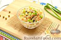 Фото к рецепту: Салат с капустой и колбасой