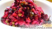 Фото приготовления рецепта: Винегрет с огурцами, квашеной капустой и горошком - шаг №5