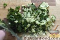 Фото приготовления рецепта: Салат с креветками и рисом - шаг №3