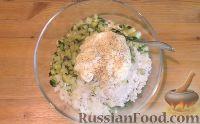 Фото приготовления рецепта: Салат с креветками и рисом - шаг №8