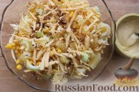 Фото приготовления рецепта: Салат с ананасом, сельдереем и кукурузой - шаг №5