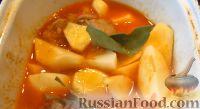 Фото приготовления рецепта: Жаркое из свинины, в томатном соусе - шаг №7