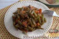 Фото к рецепту: Стручковая фасоль по-ливански, с томатами