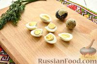 Фото приготовления рецепта: Тартинки с паштетом и перепелиными яйцами - шаг №2