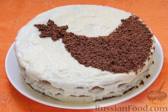 Фото приготовления рецепта: Апельсиновый кекс с клюквой и белковой глазурью - шаг №21