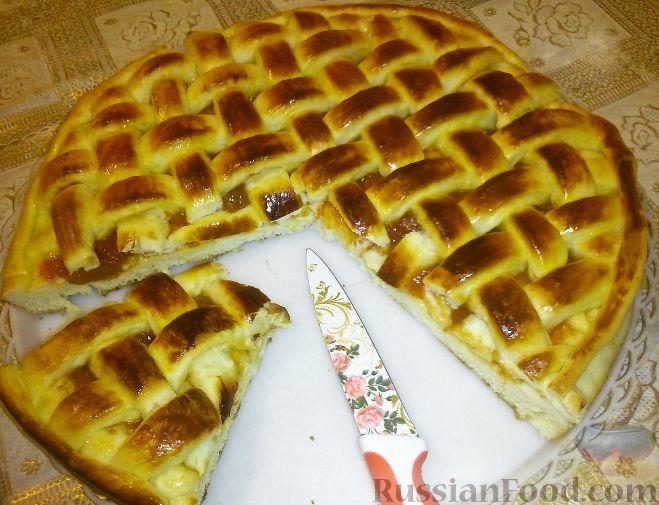 Фото приготовления рецепта: Рулетики из теста фило, с мясом, сыром и зеленью - шаг №4