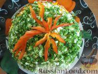Фото к рецепту: Слоеный салат со свеклой и плавленым сыром