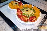 """Фото приготовления рецепта: Торт """"8 Марта"""" с фруктами - шаг №24"""