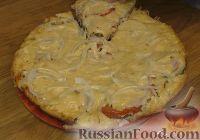 Фото приготовления рецепта: Пицца на сковороде за 10 минут - шаг №5