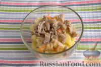 Фото приготовления рецепта: Винегрет с солеными груздями - шаг №4