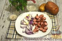 Фото приготовления рецепта: Немецкий картофельный салат с беконом - шаг №4