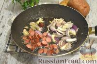 Фото приготовления рецепта: Немецкий картофельный салат с беконом - шаг №7