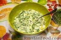 Фото приготовления рецепта: Весенний салат с черемшой - шаг №4