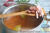 Фото приготовления рецепта: Солянка с колбасой - шаг №9
