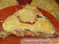 Фото к рецепту: Пицца на сковороде за 10 минут