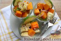 Фото к рецепту: Салат с тыквой и курицей