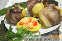 Фото к рецепту: Картофель в беконе