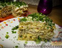 Фото к рецепту: Закусочный картофельный торт с грибами и сыром