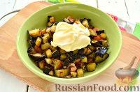 Фото приготовления рецепта: Салат с баклажанами - шаг №8