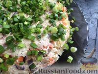 Фото к рецепту: Слоеный салат со скумбрией