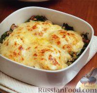 Фото к рецепту: Яйца по-флорентийски, со шпинатом