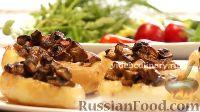 Фото к рецепту: Картофель, фаршированный грибами