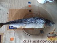 Фото приготовления рецепта: Скумбрия в луковой шелухе (за 3 минуты) - шаг №1
