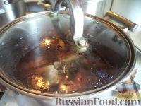 Фото приготовления рецепта: Скумбрия в луковой шелухе (за 3 минуты) - шаг №6