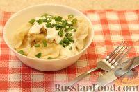 Фото к рецепту: Постные вареники с картошкой