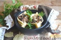 Фото к рецепту: Кундюмы с гречкой и грибами