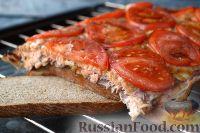 Фото приготовления рецепта: Горбуша, запеченная на хлебе - шаг №9