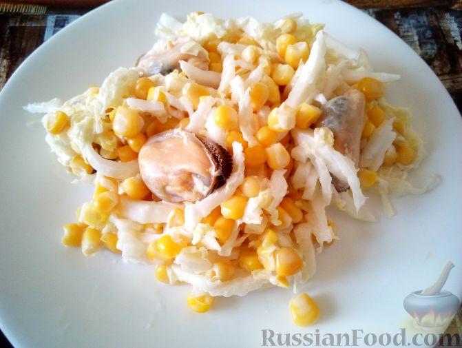 Салаты с кукурузой и копченым окорочком рецепты