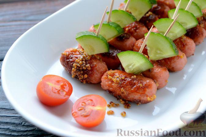 Фото приготовления рецепта: Сосиски в медово-горчичном соусе - шаг №8