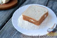 Фото приготовления рецепта: Сэндвичи с моцареллой (Mozzarella in carrozza) - шаг №5