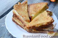 Фото приготовления рецепта: Сэндвичи с моцареллой (Mozzarella in carrozza) - шаг №8