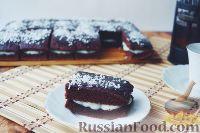 Фото к рецепту: Шоколадные пирожные с заварным кремом